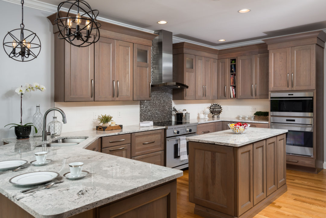 clean and serene, earth-toned kitchen